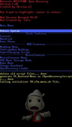 Nandroid Minimod Openrecovery Motorola Milestone