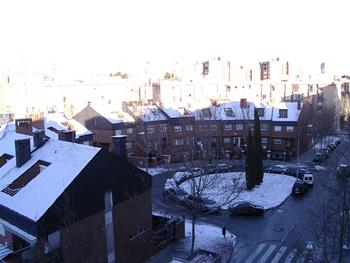 Y veo nevar... hacía mucho que no veía la nieve